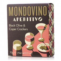 Hampers and Gifts to the UK - Send the Mondovino Black Olive Savoury Crackers