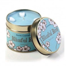 Hampers and Gifts to the UK - Send the Bomb Cosmetics Tin Candle - Blissful Rest