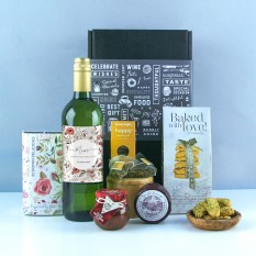 Hampers and Gifts to the UK - Send the Any Occasion With Love Wine & Cheese Hamper
