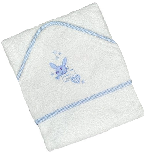 Hampers and Gifts to the UK - Send the Baby Blue Hooded Towel