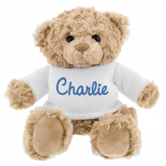 Hampers and Gifts to the UK - Send the Personalised Blue Name Teddy Bear