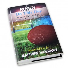 Hampers and Gifts to the UK - Send the Personalised Rugby On This Day Book