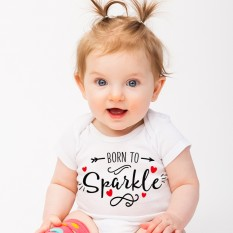 Hampers and Gifts to the UK - Send the Born to Sparkle Onesie