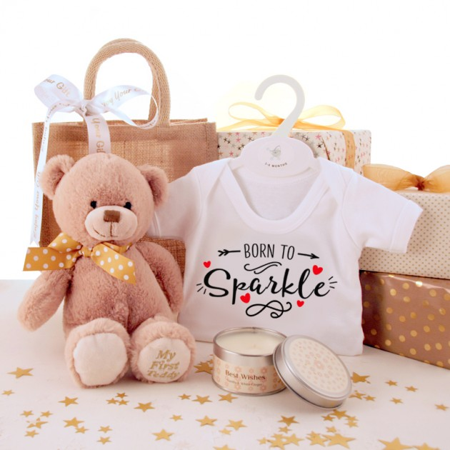 Hampers and Gifts to the UK - Send the Born to Sparkle Baby Gift