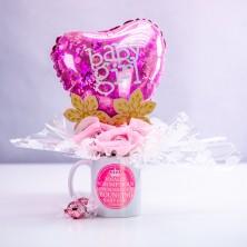 Bouncing Baby Girl Chocolate Mug Bouquet