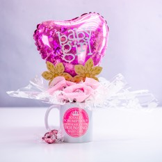 Hampers and Gifts to the UK - Send the Bouncing Baby Girl Chocolate Mug Bouquet
