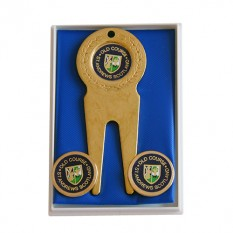 Hampers and Gifts to the UK - Send the Old Course Brass Marker Set