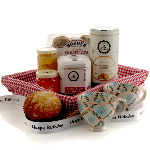 Hampers and Gifts to the UK - Send the Fruity Breakfast Tea Tray