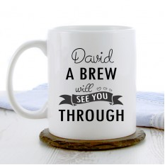 Hampers and Gifts to the UK - Send the A Brew Will See You Through Coffee Mug