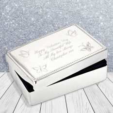 Hampers and Gifts to the UK - Send the Personalised Rectangular Jewellery Box