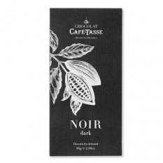 Hampers and Gifts to the UK - Send the Café-Tasse Noir Chocolate Bar