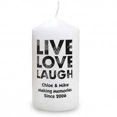 Hampers and Gifts to the UK - Send the Live Love Laugh Candle
