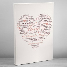 Hampers and Gifts to the UK - Send the Personalised I Love You Canvas
