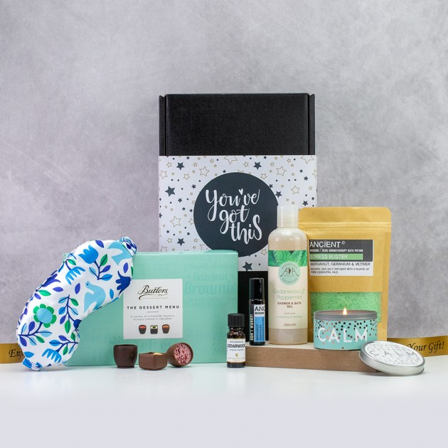 Hampers and Gifts to the UK - Send the Stress Buster Pamper Hamper