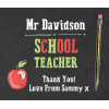 Hampers and Gifts to the UK - Send the Personalised Cool Teacher Sweet Jar