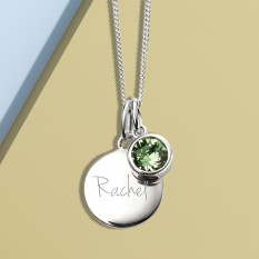 Hampers and Gifts to the UK - Send the Silver Personalised Birthstone Necklace
