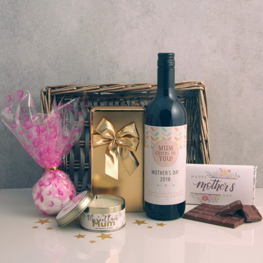 Hampers and Gifts to the UK - Send the Cheers To You Mother's Day Gift Basket