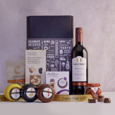 Hampers and Gifts to the UK - Send the A Trio of Cheeses Wine Hamper