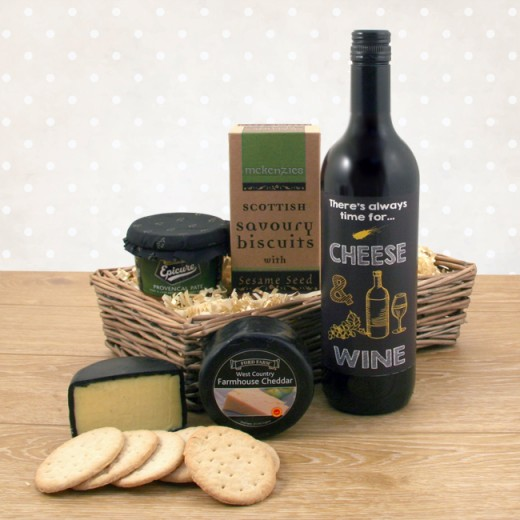 Hampers and Gifts to the UK - Send the Always Time for Cheese and Wine - Cheese Hampers