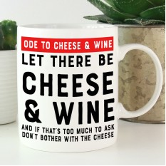 Hampers and Gifts to the UK - Send the Cheese and Wine Gift Mug