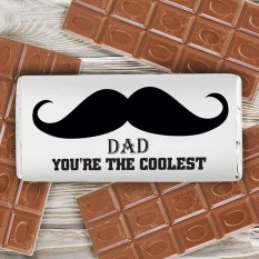 Hampers and Gifts to the UK - Send the Personalised Moustache Chocolate Bar