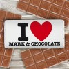 Hampers and Gifts to the UK - Send the Personalised I HEART Any Name Chocolate Bar