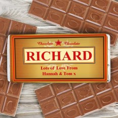 Hampers and Gifts to the UK - Send the Personalised Luxury Chocolate Bar
