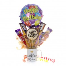 Hampers and Gifts to the UK - Send the Personalised Lord or Ladyship Mug Bouquet