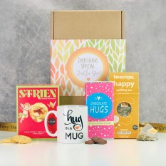 Hampers and Gifts to the UK - Send the Chocolate Hugs with Tea & Biscuits Hamper