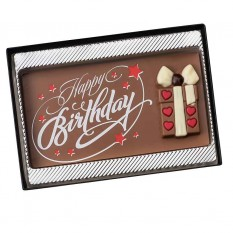 Hampers and Gifts to the UK - Send the Happy Birthday Chocolate Tablet