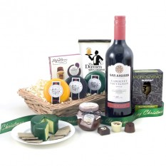 Hampers and Gifts to the UK - Send the Christmas Cheese and Wine Hamper