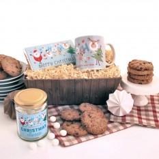 Hampers and Gifts to the UK - Send the Santa's Tray of Christmas Treats