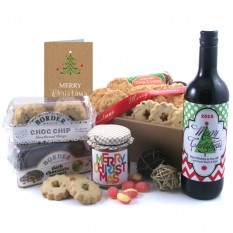 Hampers and Gifts to the UK - Send the Biscuit Favourites - MERRY CHRISTMAS 2016 Wine