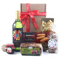 Hampers and Gifts to the UK - Send the Christmas Sweet Treats and Wine Hamper