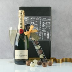 Hampers and Gifts to the UK - Send the Champagne and Chocolate Truffles Gift Set