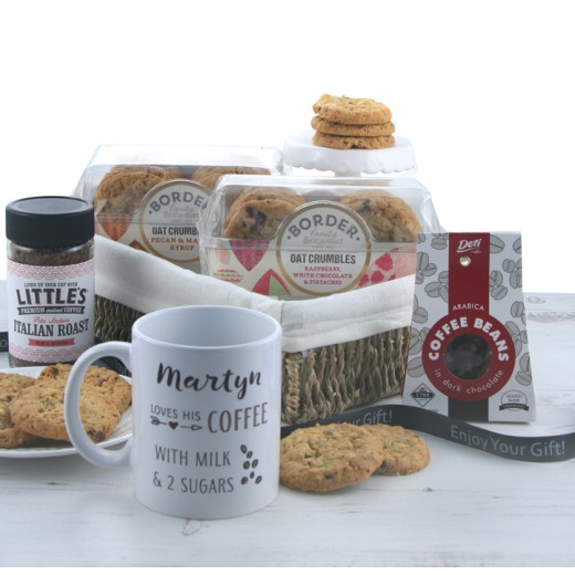 Hampers and Gifts to the UK - Send the Personalised Coffee and Cookies Gift Basket