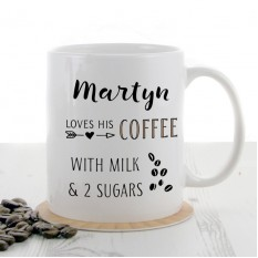 Hampers and Gifts to the UK - Send the Personalised Coffee Lover Mug