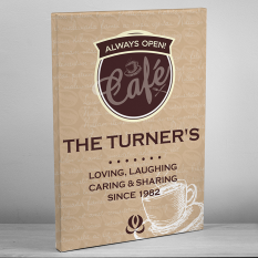 Hampers and Gifts to the UK - Send the Personalised Bistro Canvas