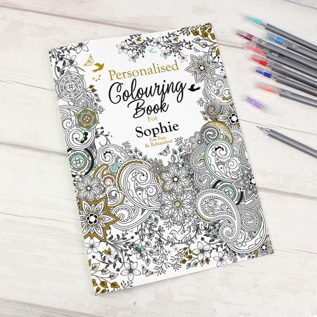 Hampers and Gifts to the UK - Send the Personalised Adult Colouring Book - Botanical