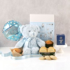 Hampers and Gifts to the UK - Send the It's A Boy Tea & Biscuits Hamper