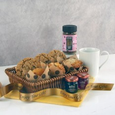 Hampers and Gifts to the UK - Send the Muffins Cookies and Coffee Gift Basket