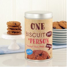 Hampers and Gifts to the UK - Send the One Biscuit Per Person Cookie Tin