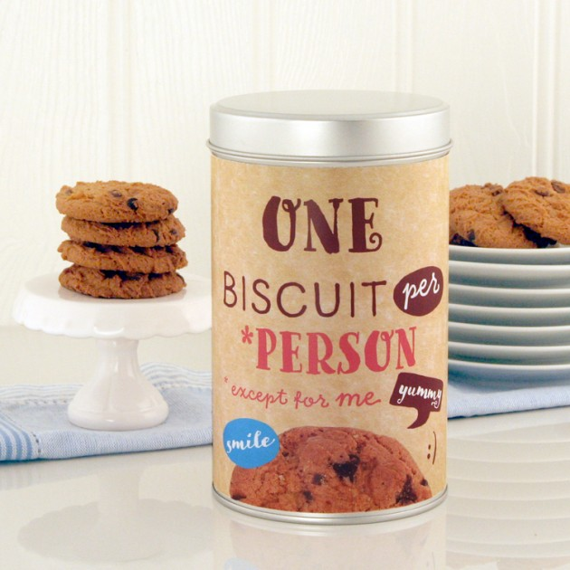 Hampers and Gifts to the UK - Send the One Biscuit Per Person Tin with a Dozen Cookies