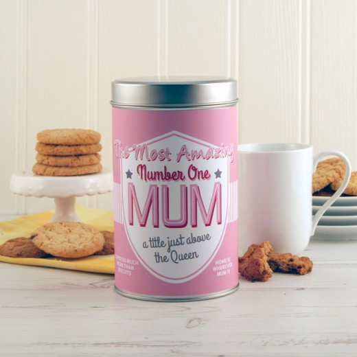 Hampers and Gifts to the UK - Send the Amazing Number One Mum Cookie Tin