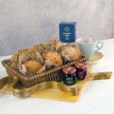 Hampers and Gifts to the UK - Send the Muffins Cookies and Tea Gift Basket
