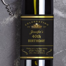 Hampers and Gifts to the UK - Send the Birthday Celebration Wine Gift