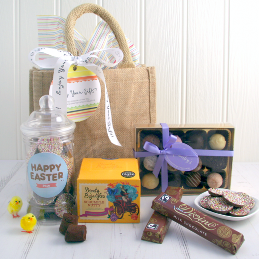 Hampers and Gifts to the UK - Send the Happy Easter Chocolatey Gift Set