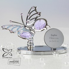 Hampers and Gifts to the UK - Send the Engraved Crystal Butterfly