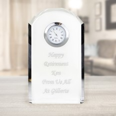 Hampers and Gifts to the UK - Send the Personalised Crystal Clock for Any Occasion