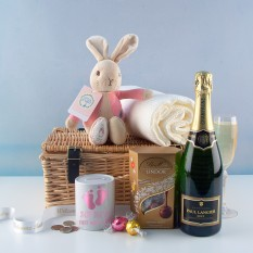 Hampers and Gifts to the UK - Send the New Baby Girl Champagne Celebration